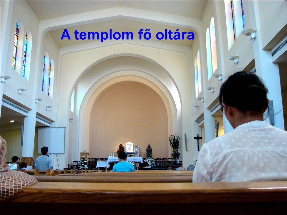 A templom fő oltára