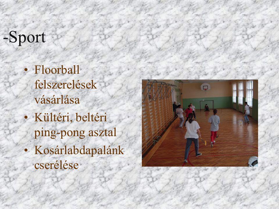-Sport Floorball felszerelések vásárlása Kültéri, beltéri ping-pong asztal Kosárlabdapalánk cserélése