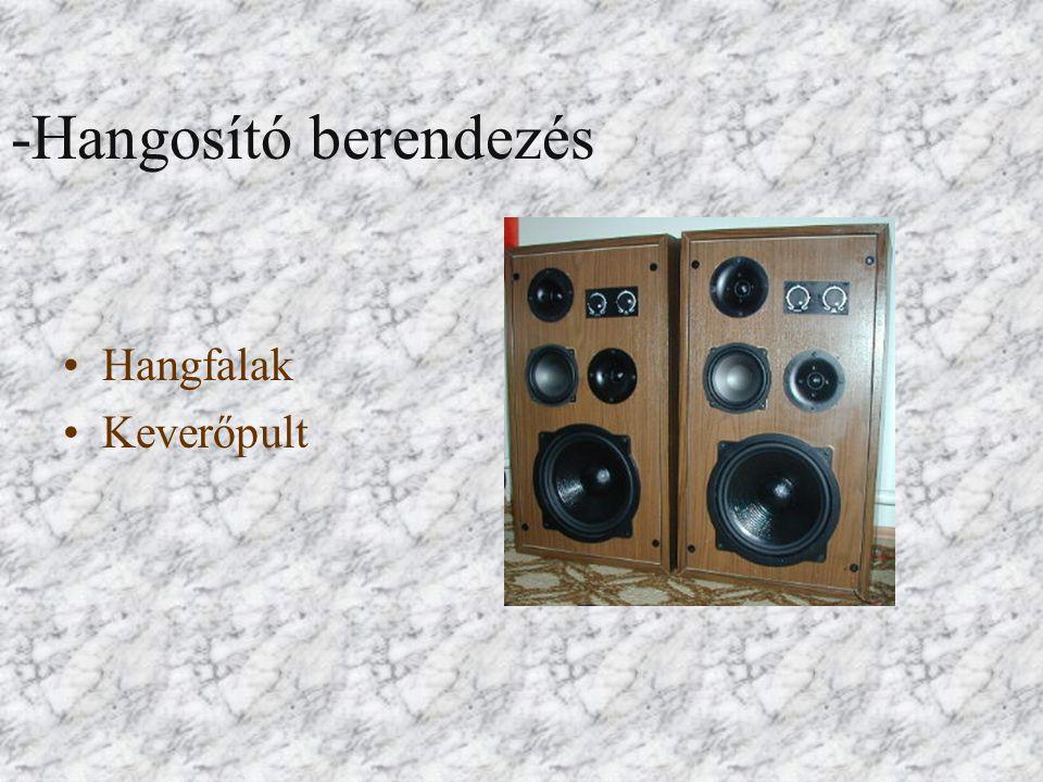 -Hangosító berendezés Hangfalak Keverőpult