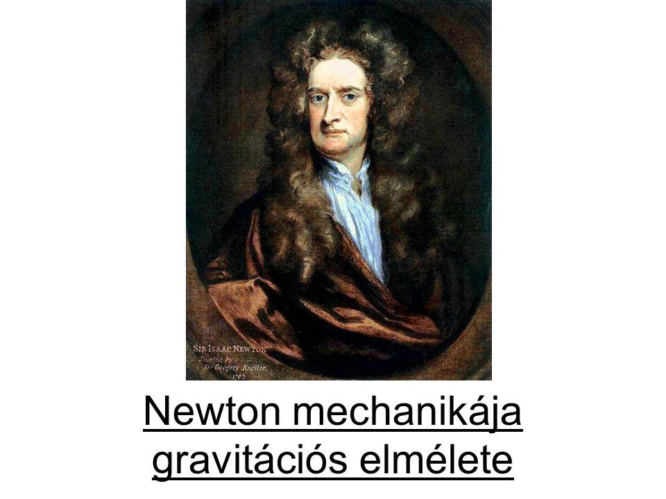 ISAAC NEWTON (1642–1727) Sötétben bújt Természet és Törvény, Szólott az Úr: – Legyen Newton.