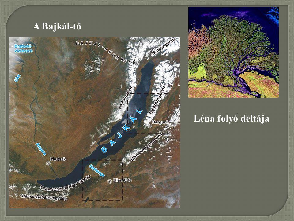 Léna folyó deltája A Bajkál-tó
