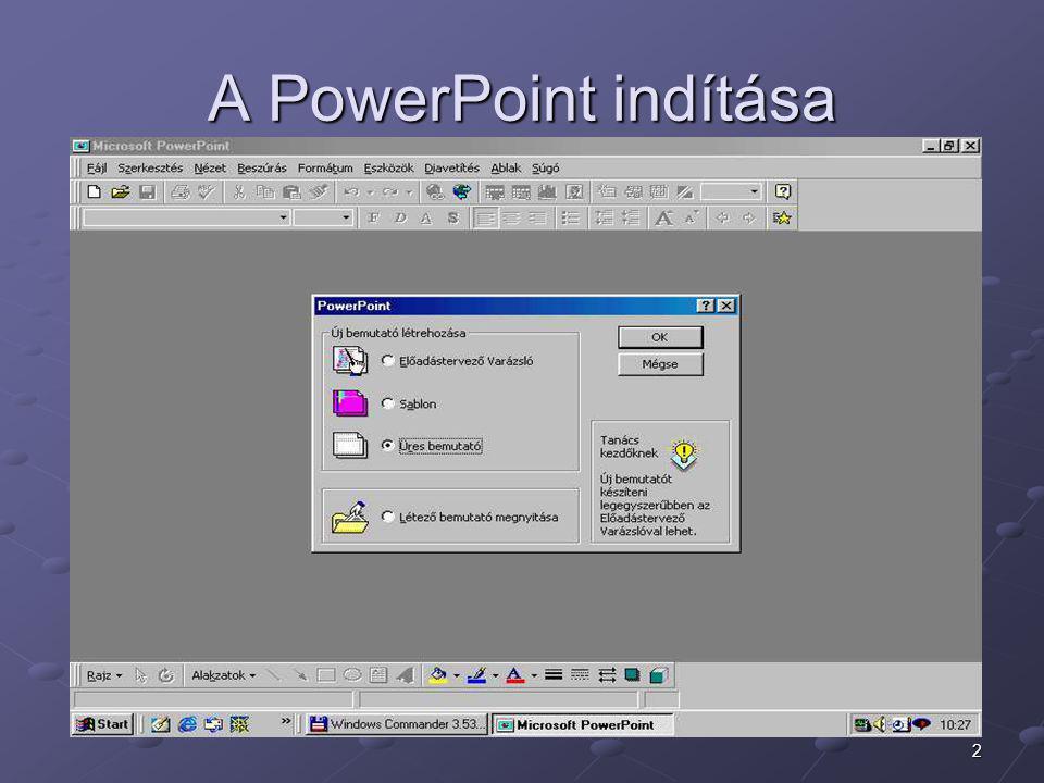 2 A PowerPoint indítása