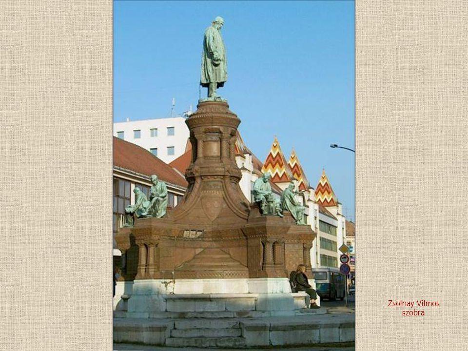 Zsolnay Vilmos szobra