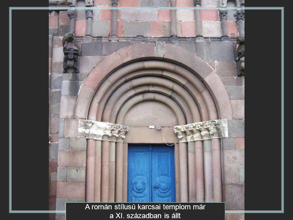 A román stílusú karcsai templom már a XI. században is állt
