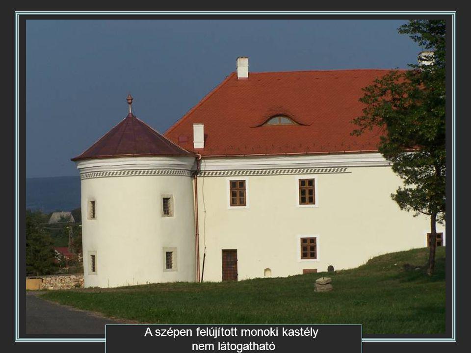A szépen felújított monoki kastély nem látogatható