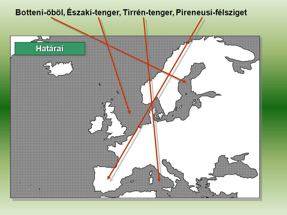 HatáraiHatárai La Manche, Finn-öböl, Izland, Korzika, Balkán-félsziget, Szicília