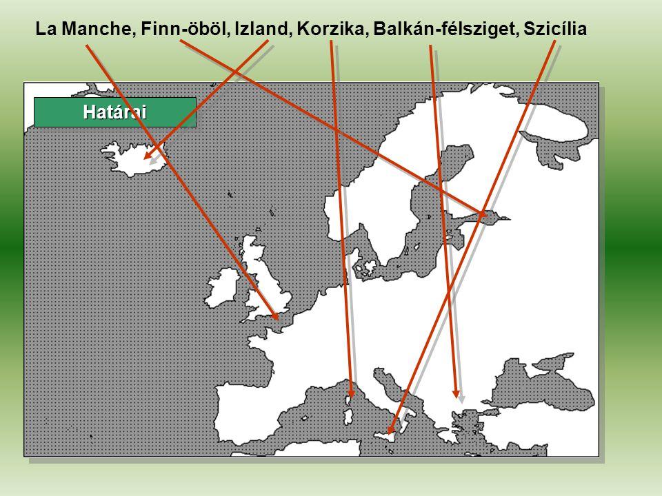 HatáraiHatárai Skandináv-félsziget, Appennini-félsziget, Balti-tenger, Égei-tenger