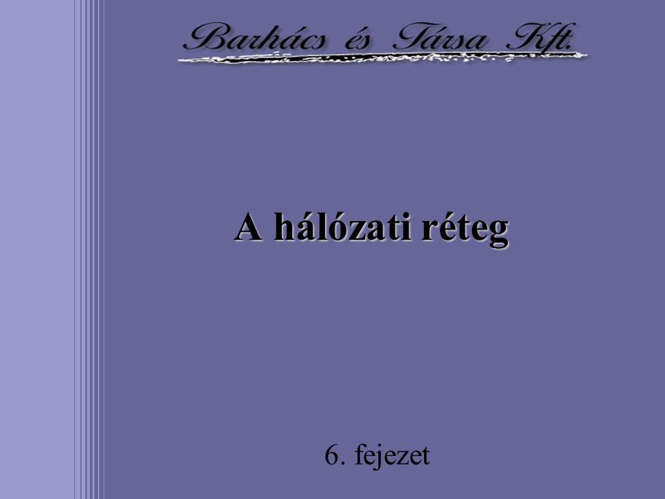 A hálózati réteg 6. fejezet