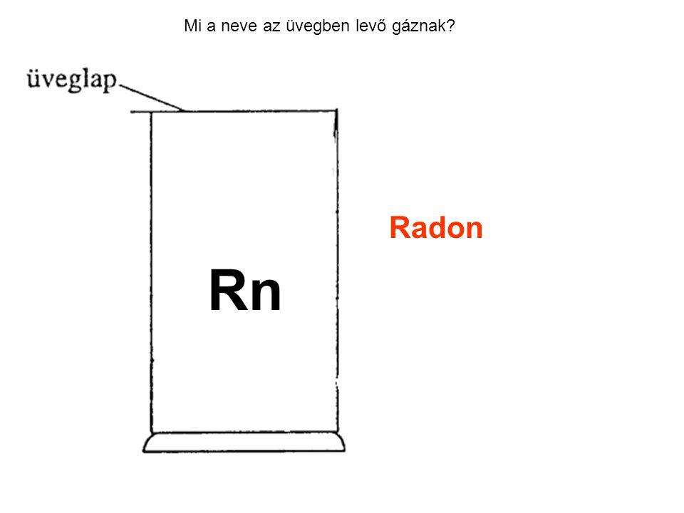 Mi a neve az üvegben levő gáznak? Radon Rn