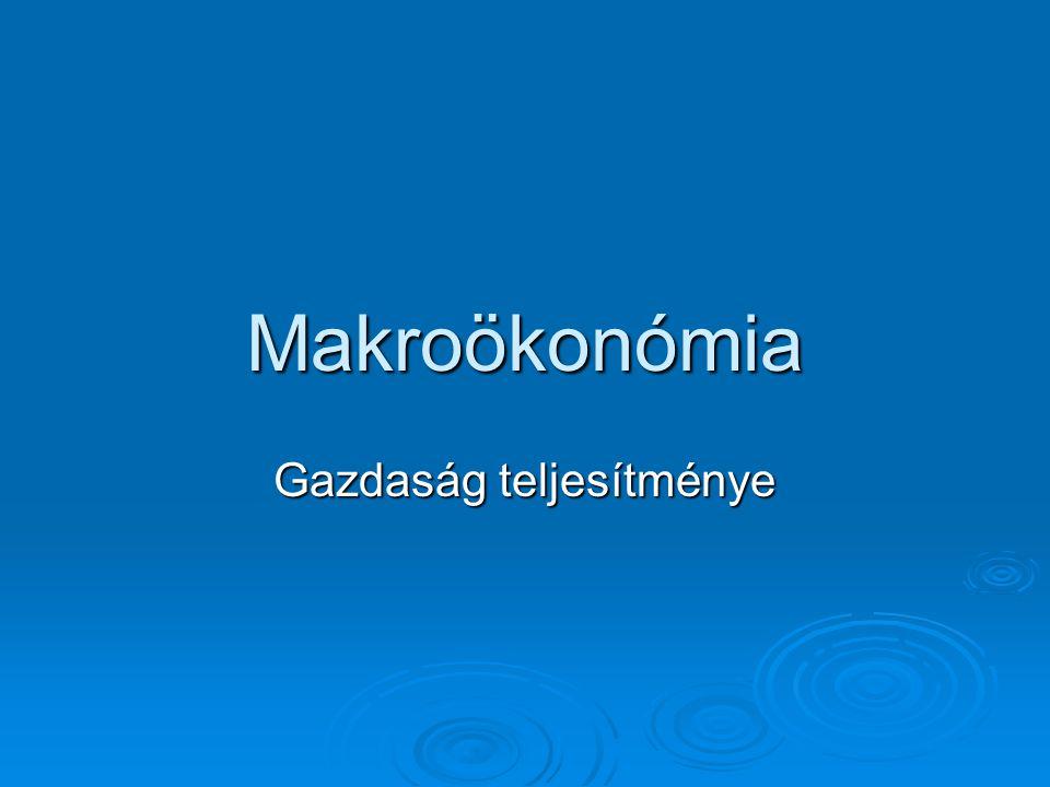 Makroökonómia Gazdaság teljesítménye