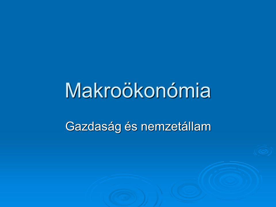 Makroökonómia Gazdaság és nemzetállam
