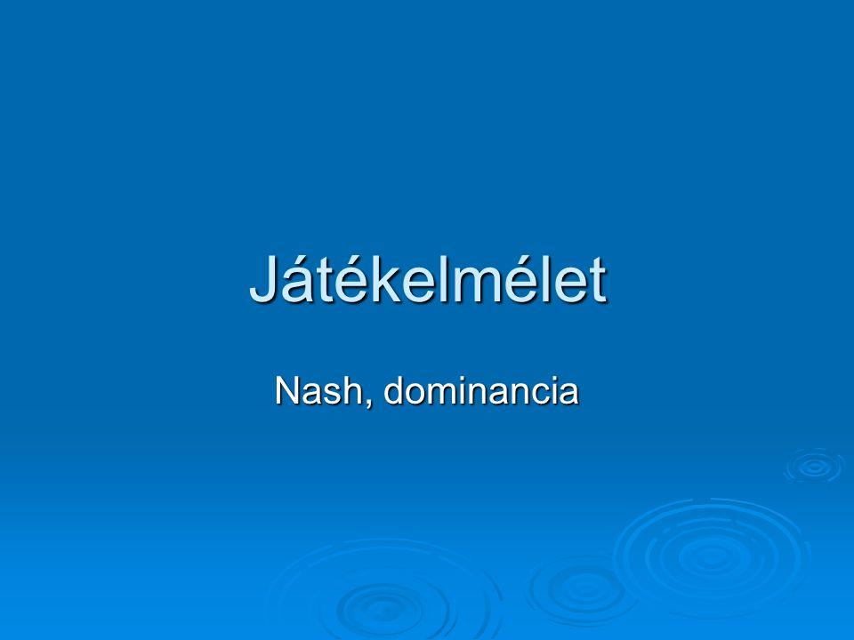 Játékelmélet Nash, dominancia