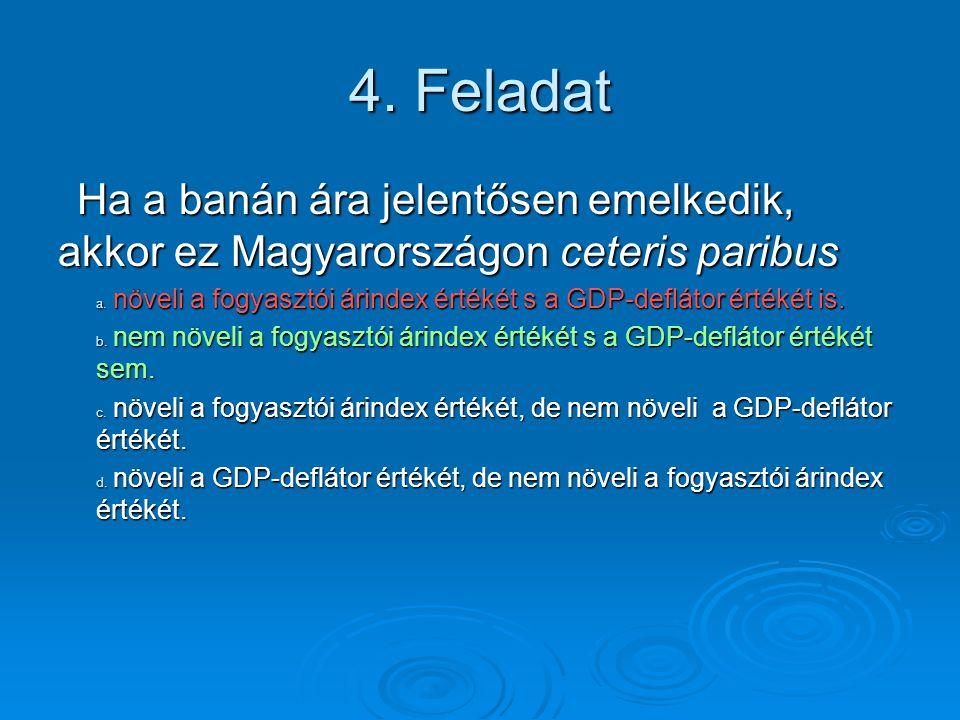 5.Feladat Az adóemelés változatlan GDP és kormányzati vásárlások mellett a.