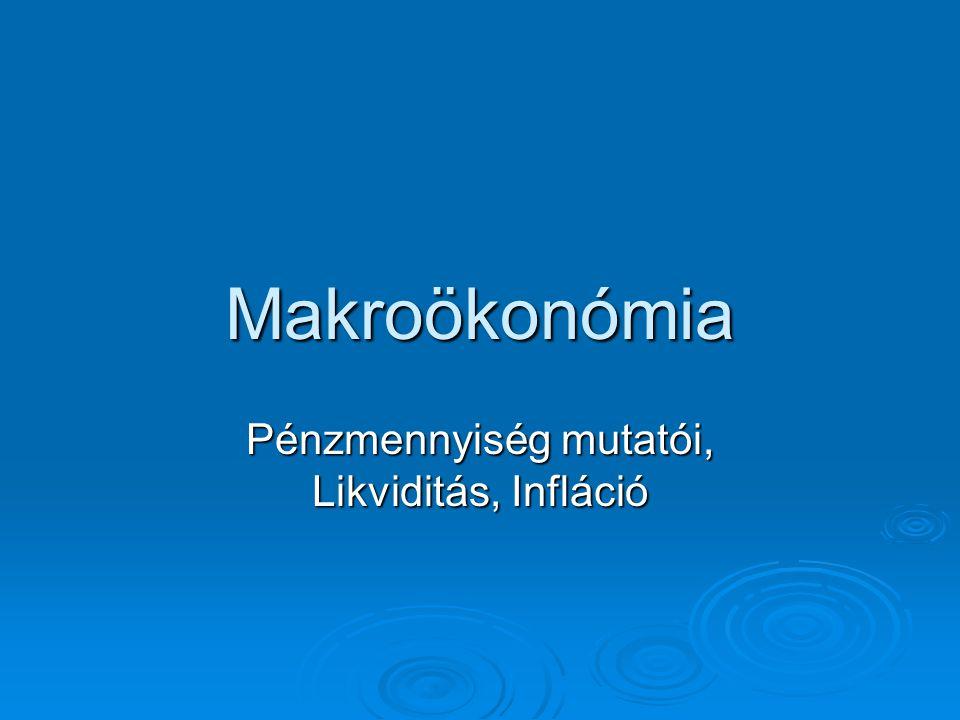 Makroökonómia Pénzmennyiség mutatói, Likviditás, Infláció
