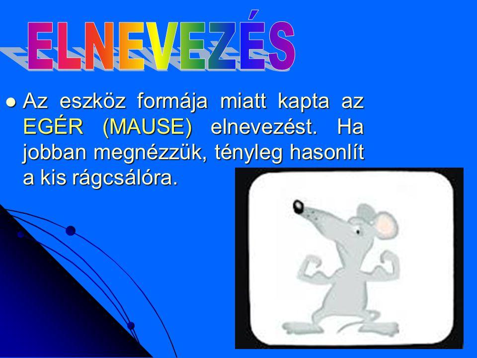 Az eszköz formája miatt kapta az EGÉR (MAUSE) elnevezést.