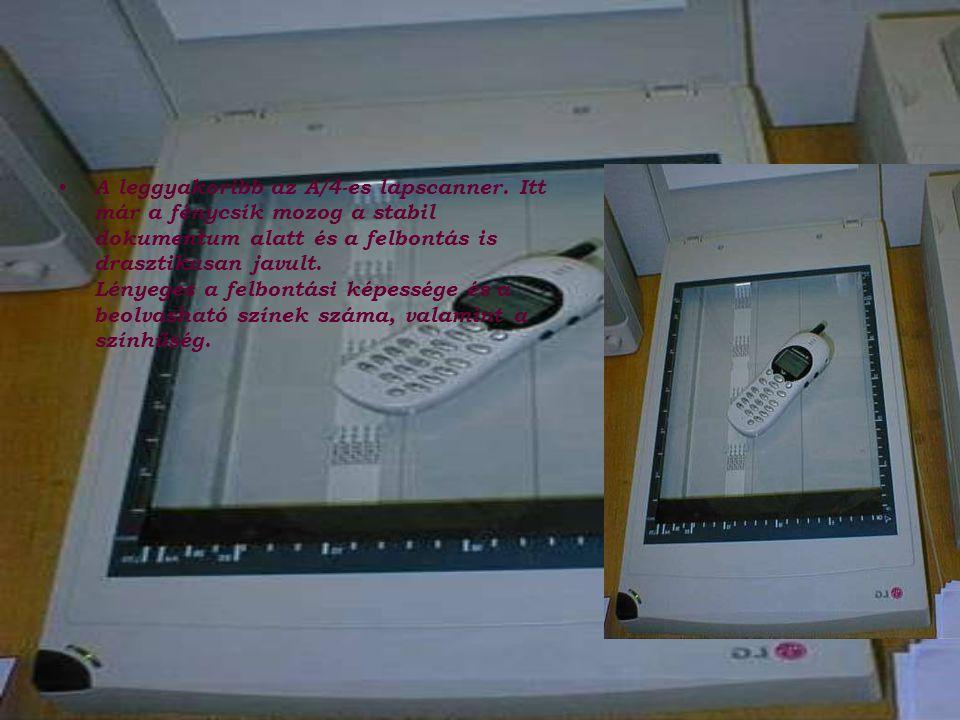 A leggyakoribb az A/4-es lapscanner.