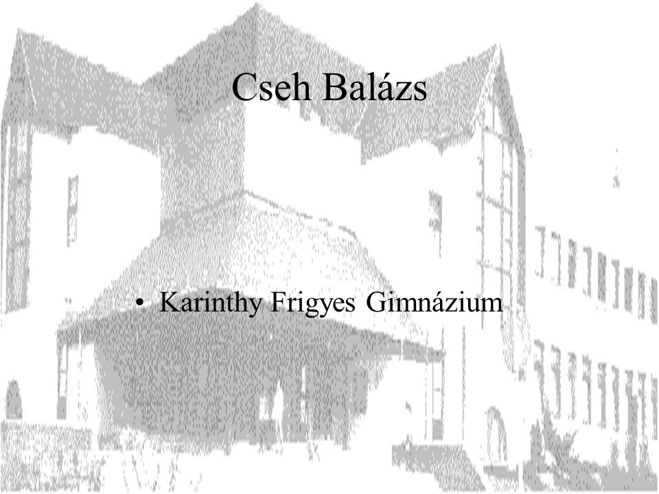 Cseh Balázs Karinthy Frigyes Gimnázium