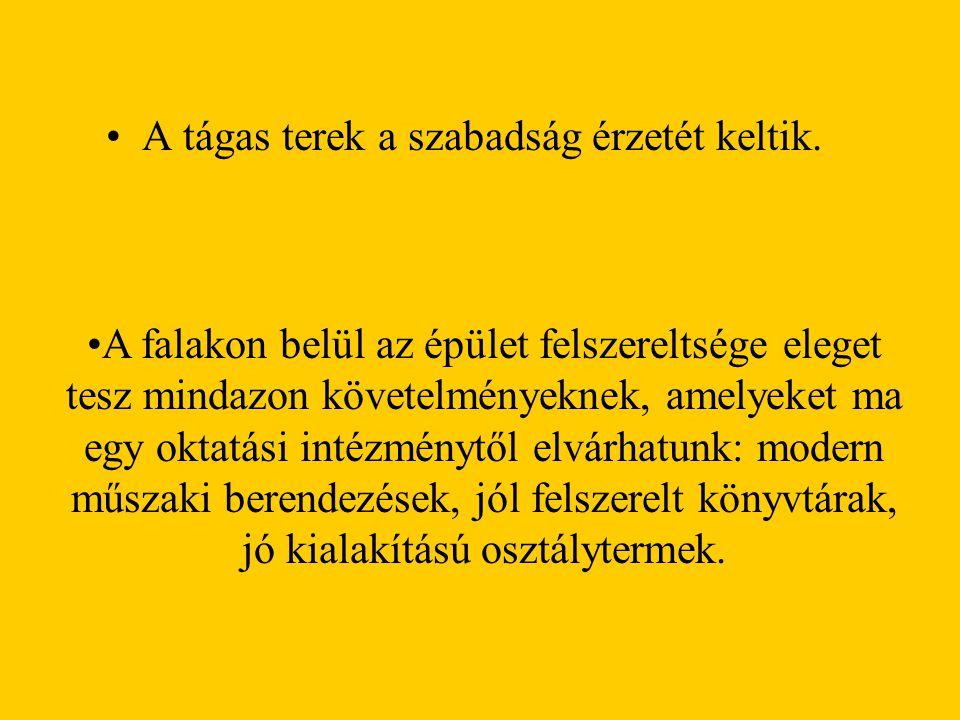 TANULMÁNYI PROGRAMJAINK: l987-ben indult be gimnáziumunkban az angol-magyar két tanítási nyelvű oktatás 72 diák részvételével, 1993-ban a négy évfolyamos német- magyar program 15 tanulóval.