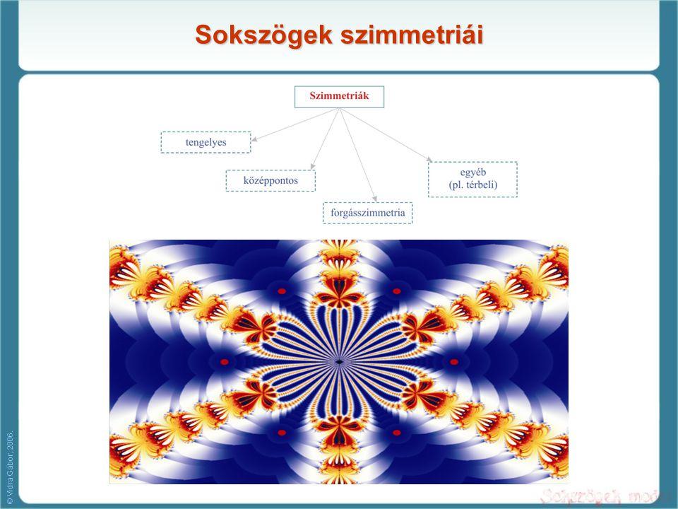 Sokszögek szimmetriái © Vidra Gábor, 2006.