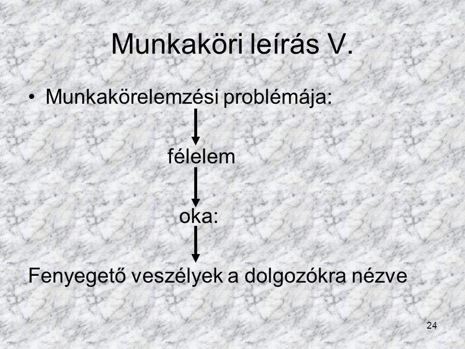 24 Munkaköri leírás V.