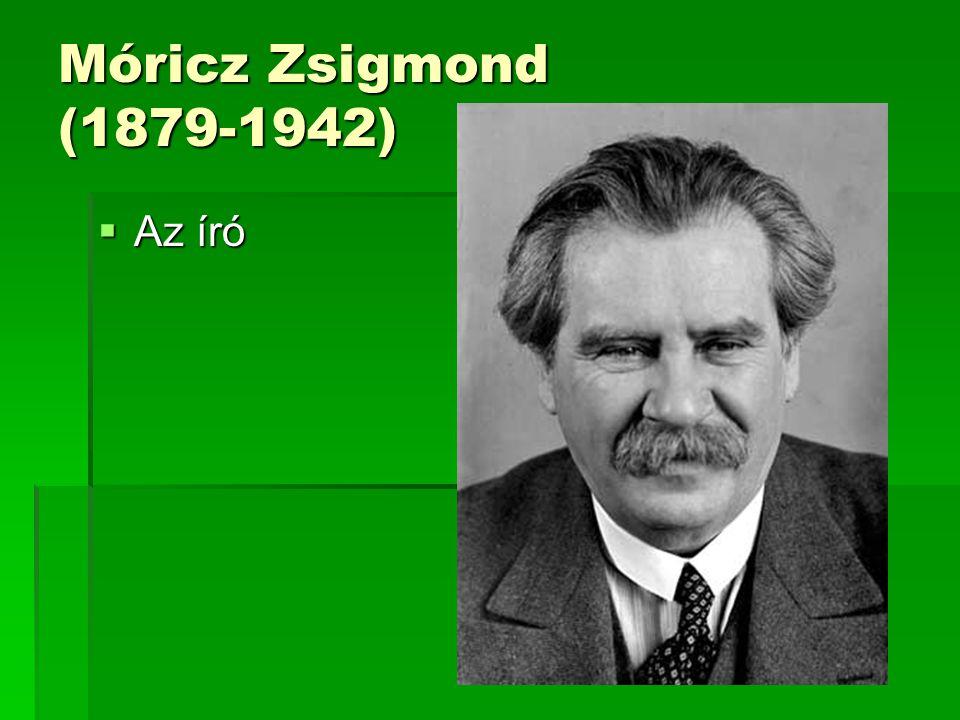Móricz Zsigmond  Móricz Zsigmond 1879-ben született Tiszacsécsén.
