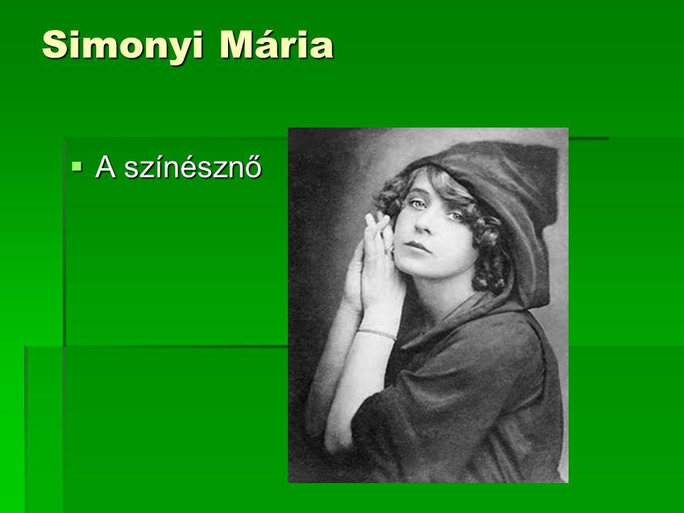 Simonyi Mária  A színésznő