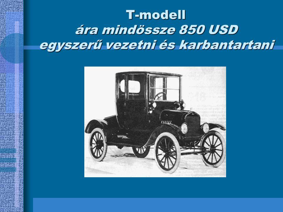 T-modell ára mindössze 850 USD egyszerű vezetni és karbantartani