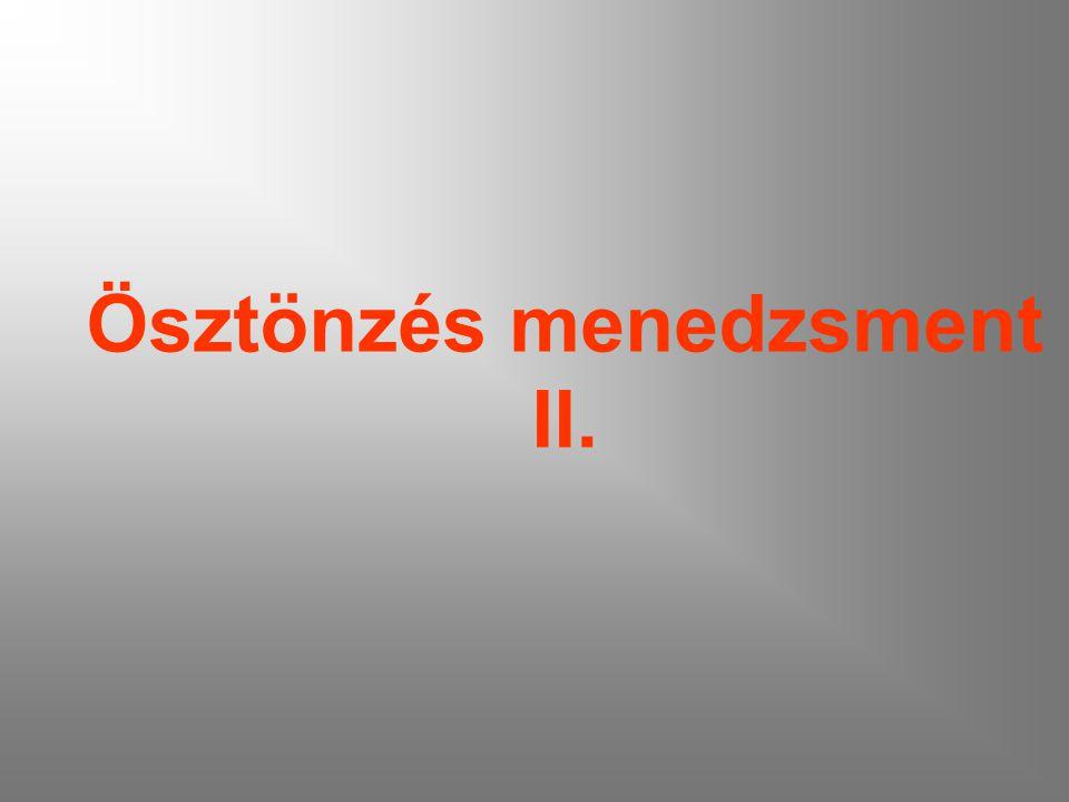 Ösztönzés menedzsment II.