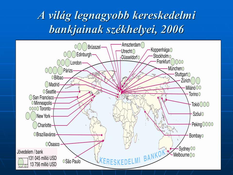20 A világ legnagyobb kereskedelmi bankjainak székhelyei, 2006