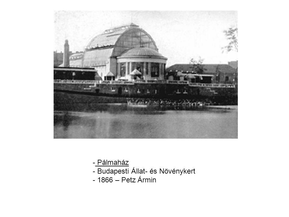 - Pálmaház - Budapesti Állat- és Növénykert - 1866 – Petz Ármin