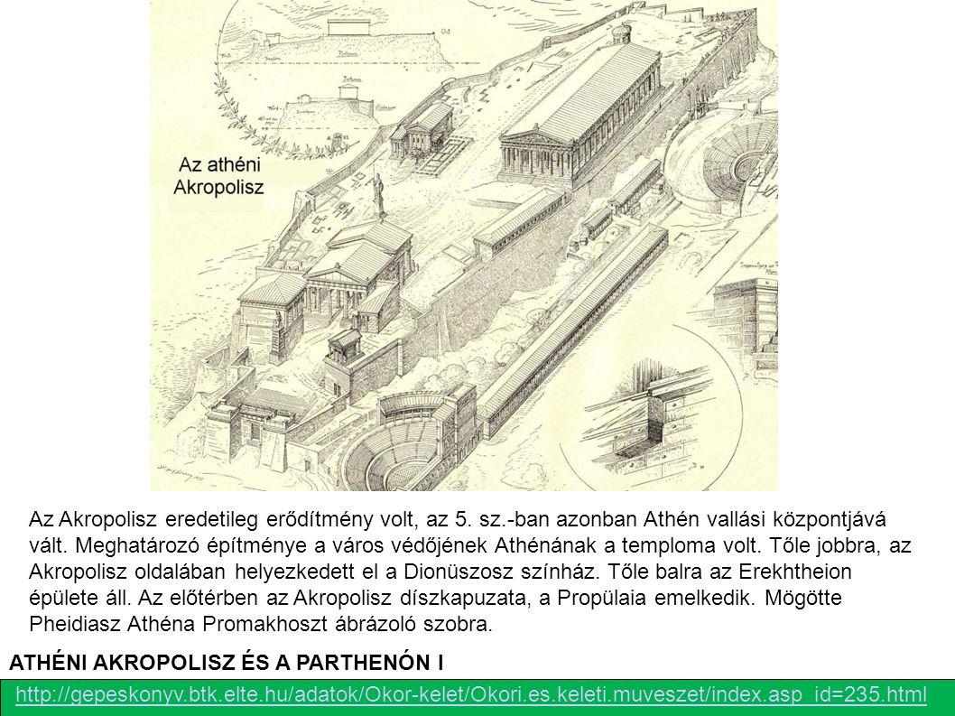 http://gepeskonyv.btk.elte.hu/adatok/Okor-kelet/Okori.es.keleti.muveszet/index.asp_id=235.html ATHÉNI AKROPOLISZ ÉS A PARTHENÓN I Az Akropolisz eredet