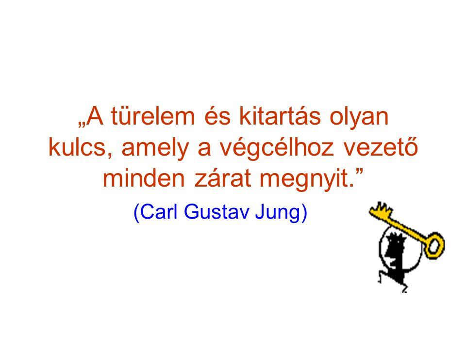 """""""A türelem és kitartás olyan kulcs, amely a végcélhoz vezető minden zárat megnyit. (Carl Gustav Jung)"""
