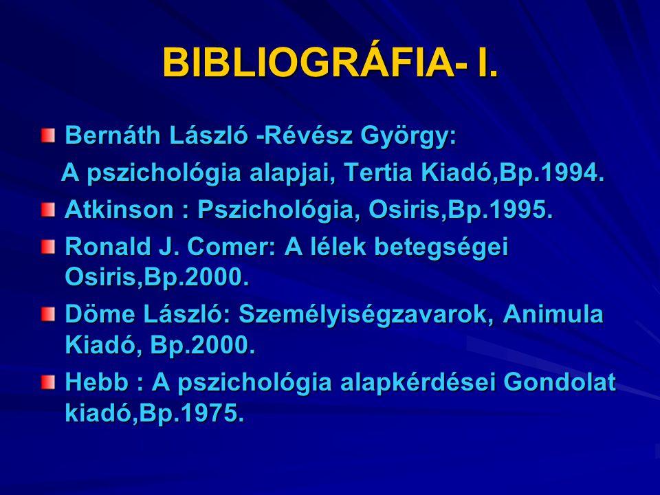 BIBLIOGRÁFIA – II.Horányi Özséb. (szerk.) Kommunikáció I.- II.
