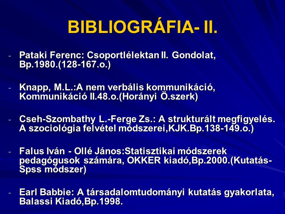 BIBLIOGRÁFIA – III.G.W. Alport: Az előítélet, Gondolat, Bp.1977.