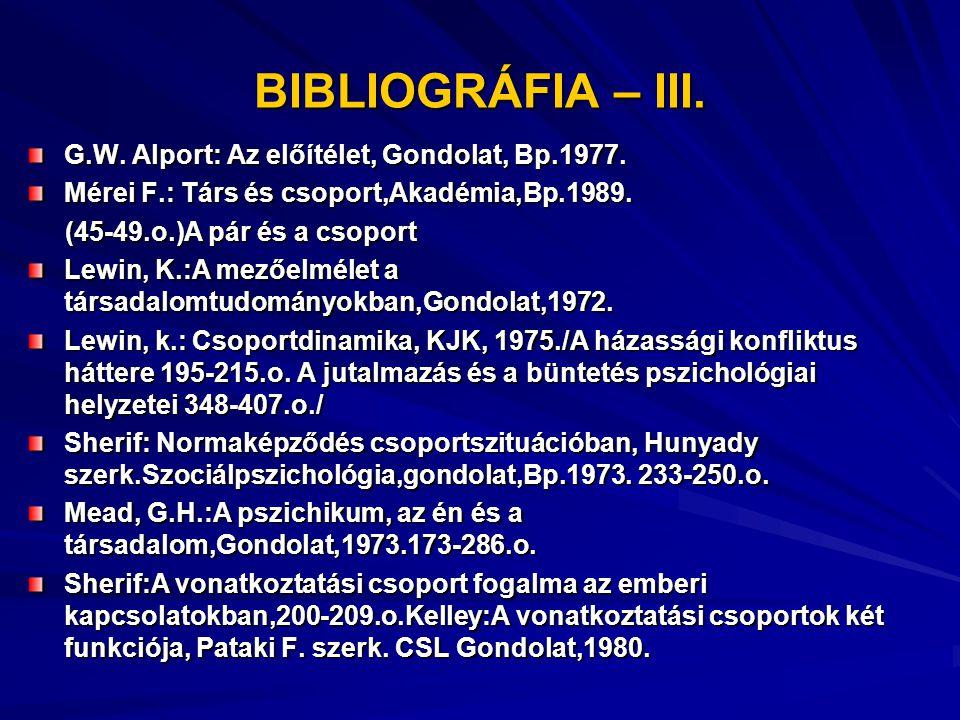 BIBLIOGRÁFIA - IV.