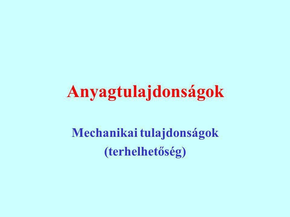 Anyagtulajdonságok Mechanikai tulajdonságok (terhelhetőség)