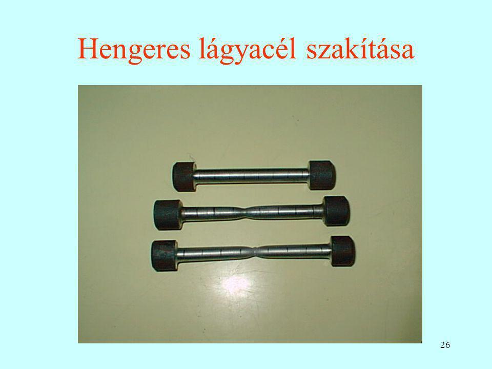 26 Hengeres lágyacél szakítása