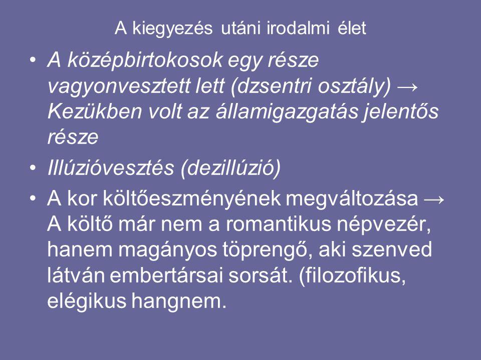 """A kiegyezés utáni irodalmi élet MADÁCH IMRE """"A SZTREGOVAI REMETE"""