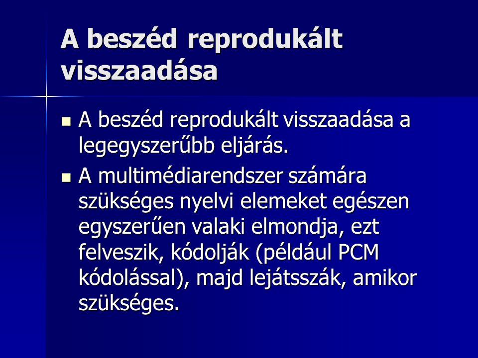 A beszéd reprodukált visszaadása A beszéd reprodukált visszaadása a legegyszerűbb eljárás. A beszéd reprodukált visszaadása a legegyszerűbb eljárás. A
