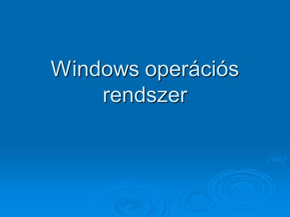 2 A windows operációs rendszer alapelemei A windows operációs rendszer alapelemei  Munkaasztal Munkaasztal  Tálca Tálca  Mappák Mappák