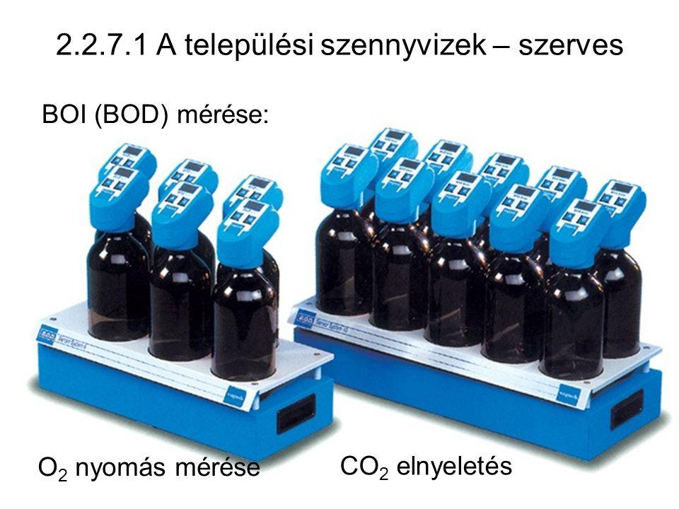 55 2.2.7.1 A települési szennyvizek – szerves BOI (BOD) mérése: O 2 nyomás mérése CO 2 elnyeletés