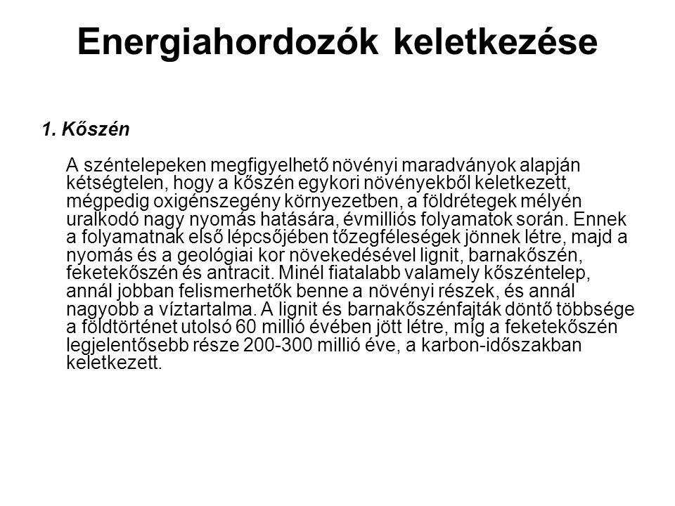 Energiahordozók keletkezése 1.