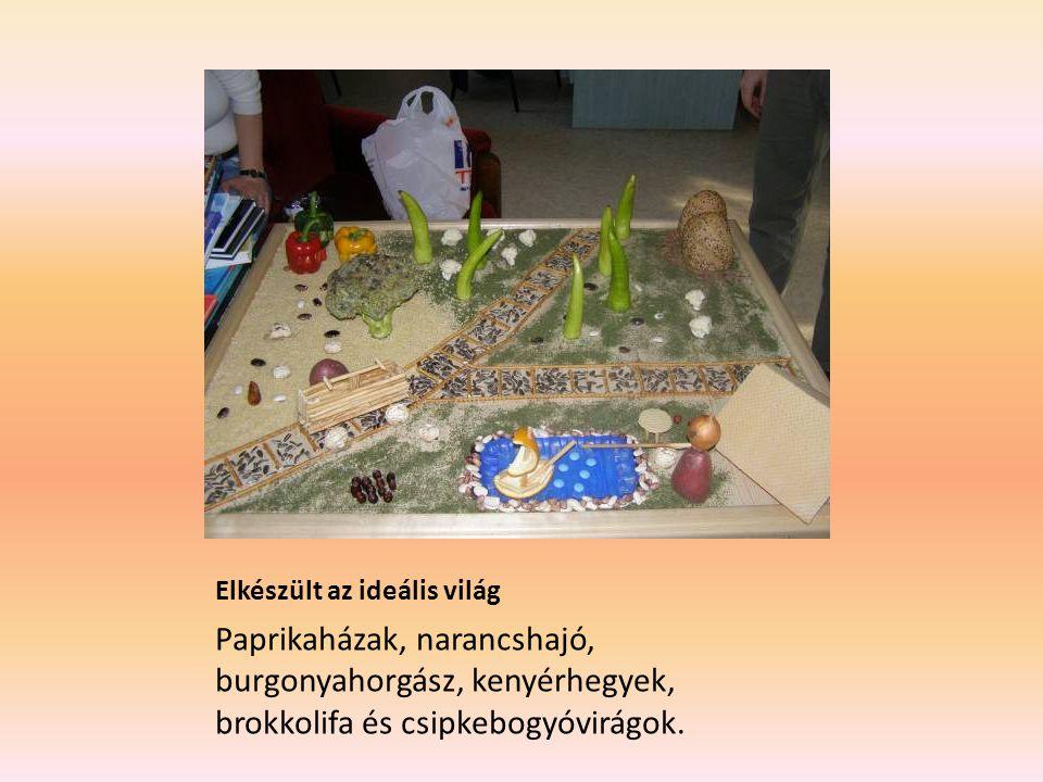 Elkészült az ideális világ Paprikaházak, narancshajó, burgonyahorgász, kenyérhegyek, brokkolifa és csipkebogyóvirágok.