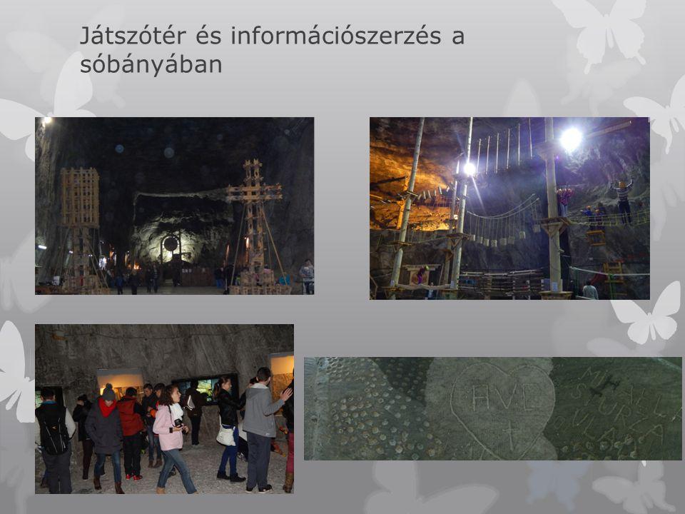 Játszótér és információszerzés a sóbányában
