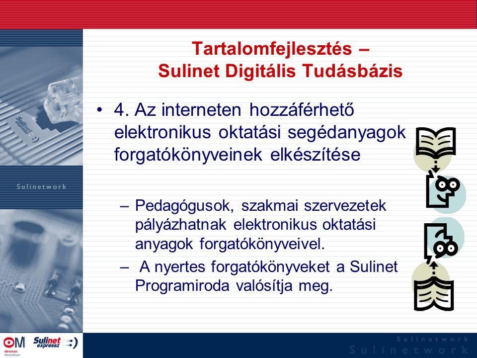 Tartalomfejlesztés – Sulinet Digitális Tudásbázis 4. Az interneten hozzáférhető elektronikus oktatási segédanyagok forgatókönyveinek elkészítése –Peda