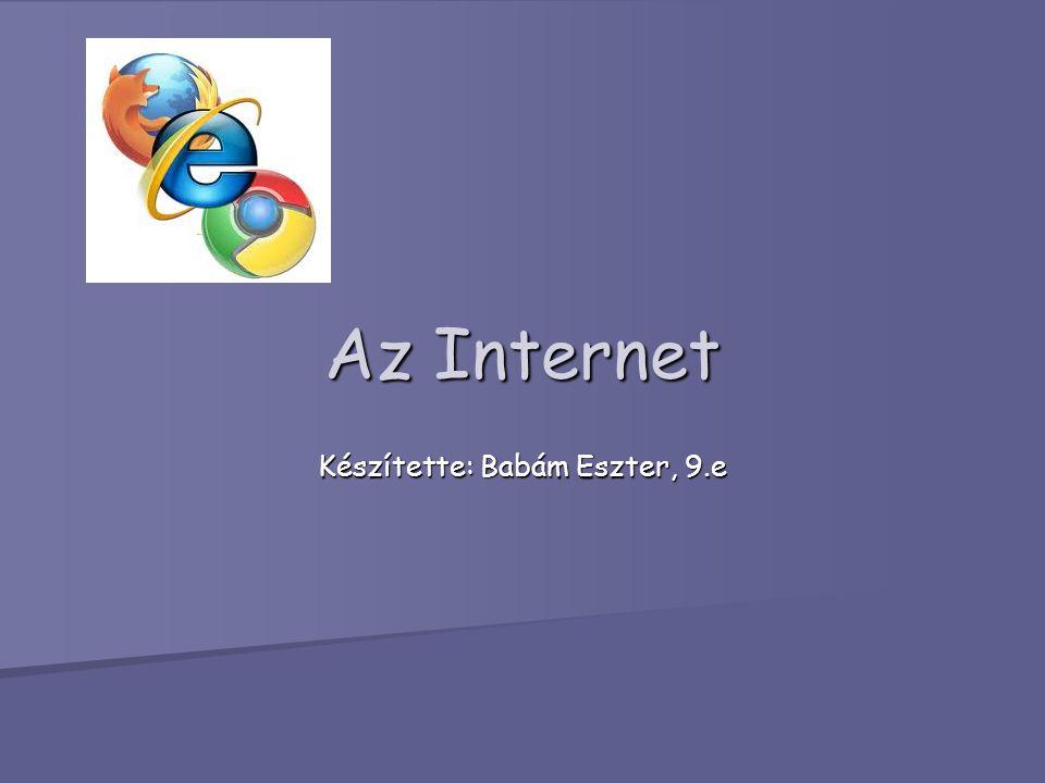Története Az Internet története az 1960-as évekre nyúlik vissza.