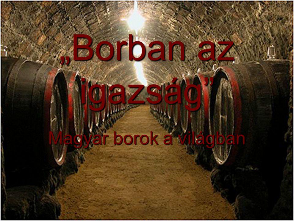 """""""Borban az igazság Magyar borok a világban"""