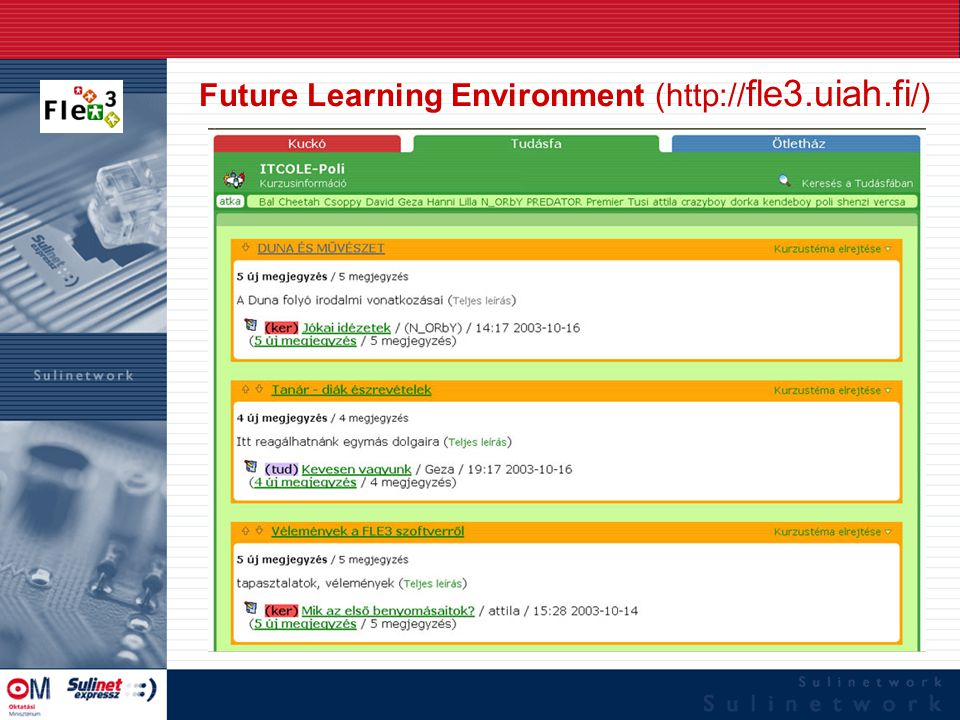 Future Learning Environment (  fle3.uiah.fi /)