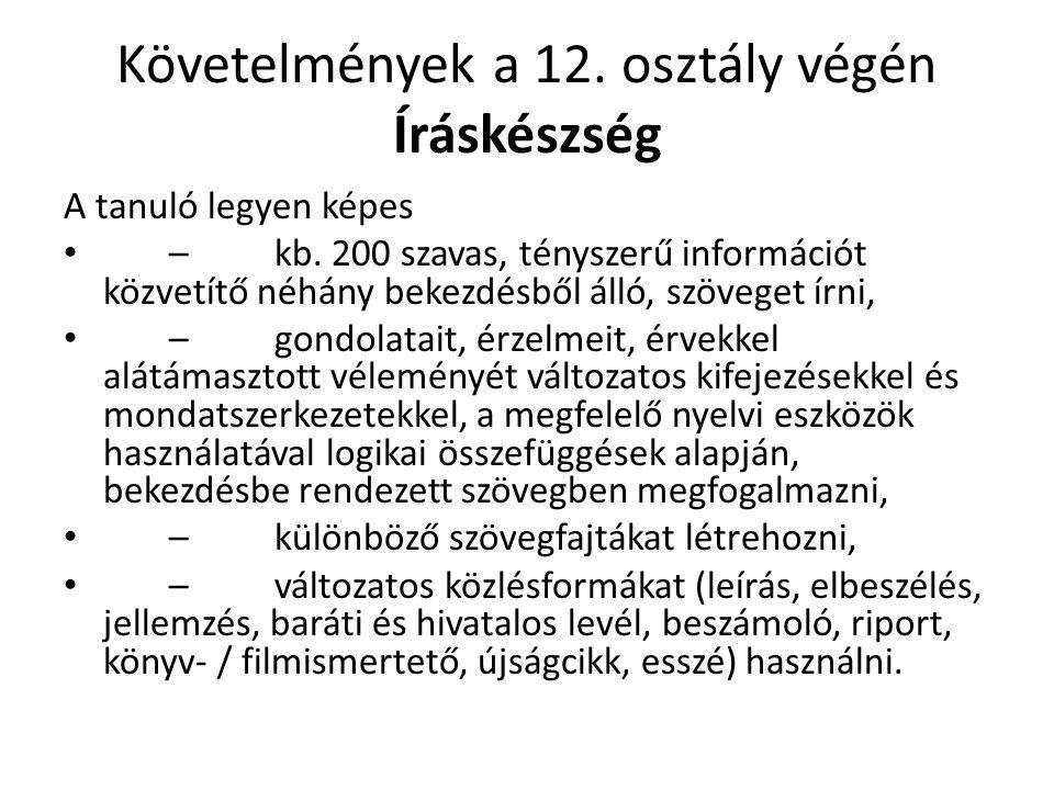Idegen nyelvi felvételi vizsga 8.osztály után ☺/☻ szóbeli meghallgatás ↑ BESZÉDKÉSZSÉG BESZÉDÉRTÉS SZÓKINCS KOMMUNIKÁCIÓS KOMPETENCIÁK