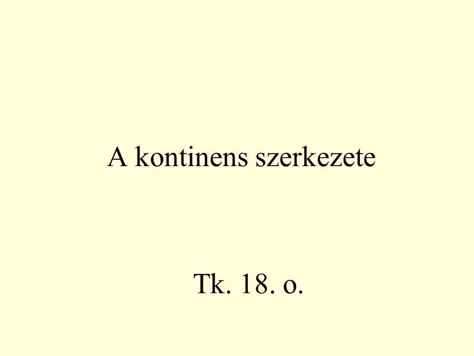 A kontinens szerkezete Tk. 18. o.